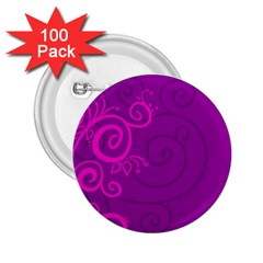 Floraly Swirlish Purple Color 2 25  Buttons (100 Pack)
