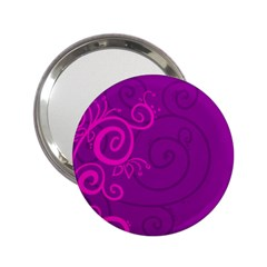 Floraly Swirlish Purple Color 2 25  Handbag Mirrors