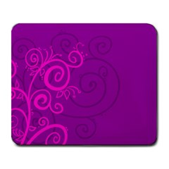 Floraly Swirlish Purple Color Large Mousepads
