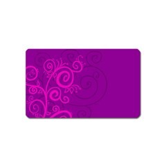 Floraly Swirlish Purple Color Magnet (name Card)