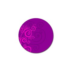 Floraly Swirlish Purple Color Golf Ball Marker