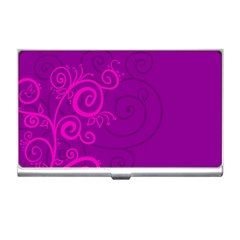 Floraly Swirlish Purple Color Business Card Holders
