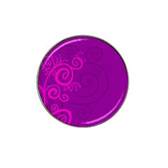 Floraly Swirlish Purple Color Hat Clip Ball Marker (4 Pack)