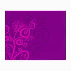 Floraly Swirlish Purple Color Small Glasses Cloth
