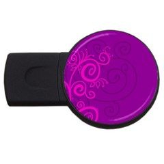 Floraly Swirlish Purple Color USB Flash Drive Round (4 GB)