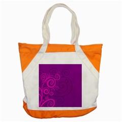 Floraly Swirlish Purple Color Accent Tote Bag