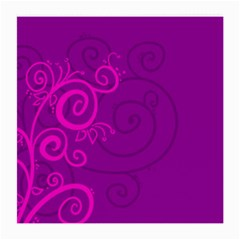 Floraly Swirlish Purple Color Medium Glasses Cloth