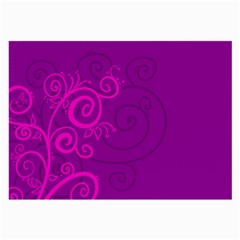 Floraly Swirlish Purple Color Large Glasses Cloth