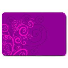 Floraly Swirlish Purple Color Large Doormat