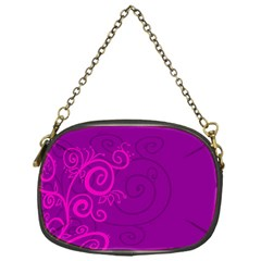 Floraly Swirlish Purple Color Chain Purses (one Side)