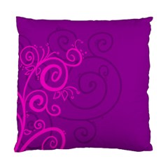 Floraly Swirlish Purple Color Standard Cushion Case (two Sides)