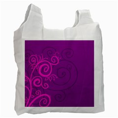 Floraly Swirlish Purple Color Recycle Bag (two Side)