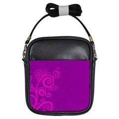 Floraly Swirlish Purple Color Girls Sling Bags