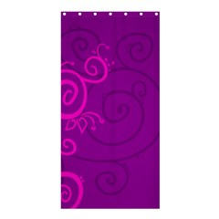 Floraly Swirlish Purple Color Shower Curtain 36  X 72  (stall)
