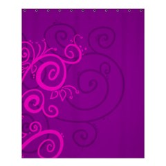 Floraly Swirlish Purple Color Shower Curtain 60  X 72  (medium)