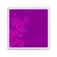 Floraly Swirlish Purple Color Memory Card Reader (square)