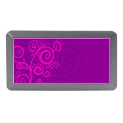 Floraly Swirlish Purple Color Memory Card Reader (mini)