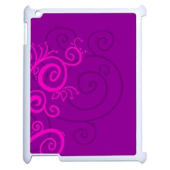 Floraly Swirlish Purple Color Apple Ipad 2 Case (white)