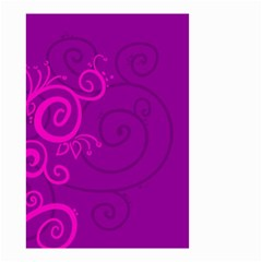 Floraly Swirlish Purple Color Small Garden Flag (two Sides)