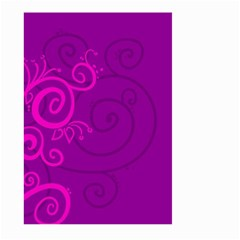 Floraly Swirlish Purple Color Large Garden Flag (two Sides)