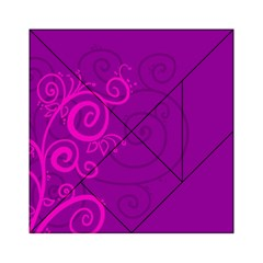 Floraly Swirlish Purple Color Acrylic Tangram Puzzle (6  X 6 )