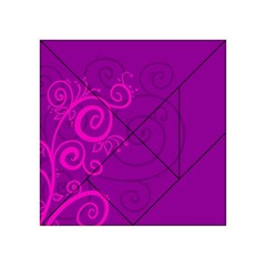 Floraly Swirlish Purple Color Acrylic Tangram Puzzle (4  X 4 )
