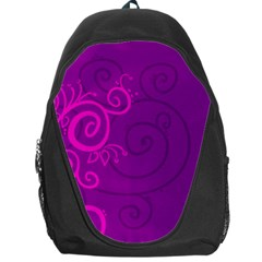Floraly Swirlish Purple Color Backpack Bag