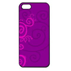 Floraly Swirlish Purple Color Apple Iphone 5 Seamless Case (black)