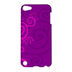 Floraly Swirlish Purple Color Apple Ipod Touch 5 Hardshell Case