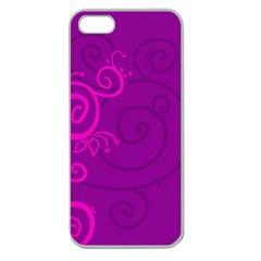 Floraly Swirlish Purple Color Apple Seamless Iphone 5 Case (clear)