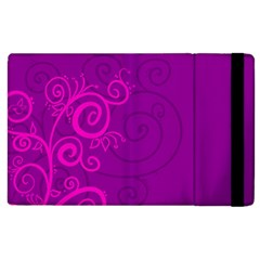 Floraly Swirlish Purple Color Apple Ipad 3/4 Flip Case