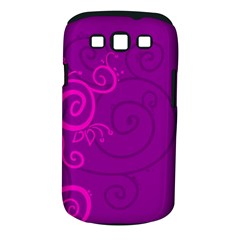 Floraly Swirlish Purple Color Samsung Galaxy S Iii Classic Hardshell Case (pc+silicone)