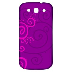 Floraly Swirlish Purple Color Samsung Galaxy S3 S Iii Classic Hardshell Back Case