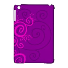 Floraly Swirlish Purple Color Apple iPad Mini Hardshell Case (Compatible with Smart Cover)