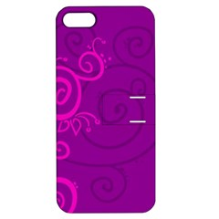 Floraly Swirlish Purple Color Apple Iphone 5 Hardshell Case With Stand