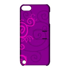 Floraly Swirlish Purple Color Apple Ipod Touch 5 Hardshell Case With Stand