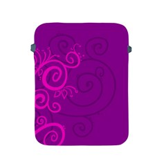 Floraly Swirlish Purple Color Apple Ipad 2/3/4 Protective Soft Cases