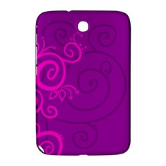 Floraly Swirlish Purple Color Samsung Galaxy Note 8 0 N5100 Hardshell Case