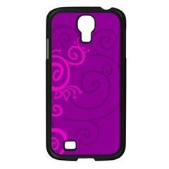 Floraly Swirlish Purple Color Samsung Galaxy S4 I9500/ I9505 Case (black)