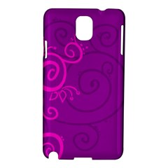 Floraly Swirlish Purple Color Samsung Galaxy Note 3 N9005 Hardshell Case