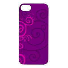 Floraly Swirlish Purple Color Apple iPhone 5S/ SE Hardshell Case