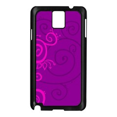 Floraly Swirlish Purple Color Samsung Galaxy Note 3 N9005 Case (black)