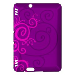 Floraly Swirlish Purple Color Kindle Fire Hdx Hardshell Case