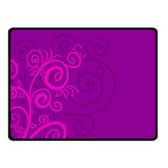 Floraly Swirlish Purple Color Double Sided Fleece Blanket (small)
