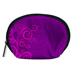 Floraly Swirlish Purple Color Accessory Pouches (medium)