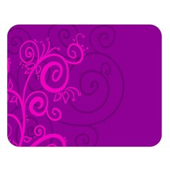 Floraly Swirlish Purple Color Double Sided Flano Blanket (large)
