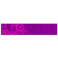 Floraly Swirlish Purple Color Flano Scarf (small)