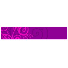 Floraly Swirlish Purple Color Flano Scarf (large)