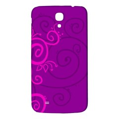 Floraly Swirlish Purple Color Samsung Galaxy Mega I9200 Hardshell Back Case