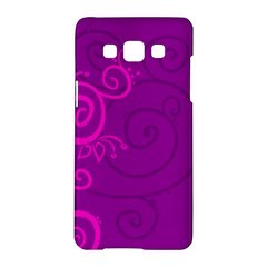 Floraly Swirlish Purple Color Samsung Galaxy A5 Hardshell Case